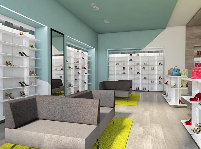 Allestimento negozio scarpe tr81 regardsdefemmes for Architetto interni on line