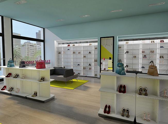 Allestimento negozio scarpe tr81 regardsdefemmes - Architetto interni roma ...