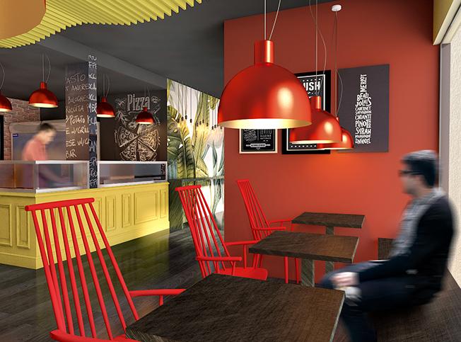 Architetto online restyling pizzeria arredi di interni for Architetto interni on line