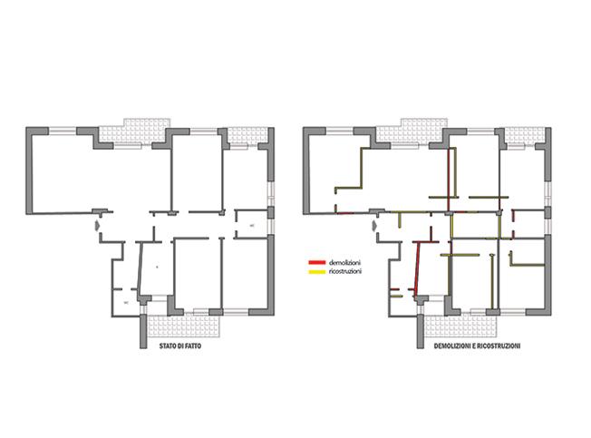 Architetto online divisione appartamento arredamento for Architetto on line