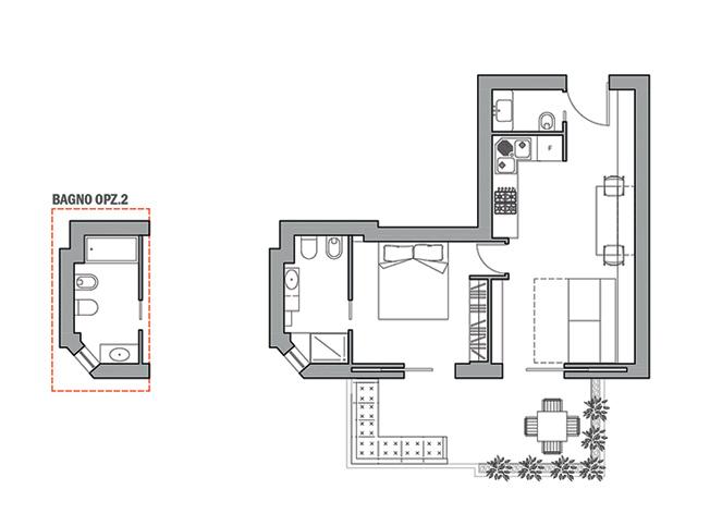 Architetto online progetto bilocale arredo di interni for Architetto on line
