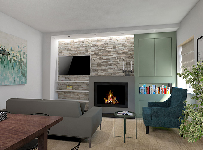 Architetto online | Progetto cucina, soggiorno e cameretta | Arredi ...