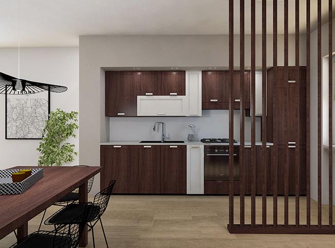 Architetto online | Progetto cucina, soggiorno e cameretta ...