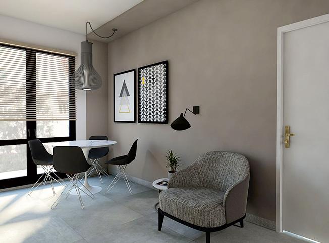 Architetto online progetto piccolo open space moderno for Arredamento moderno online