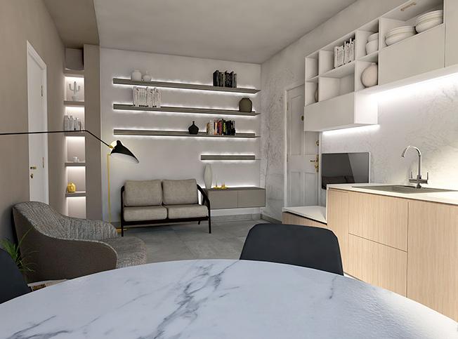 Architetto online | Progetto piccolo open space moderno ...