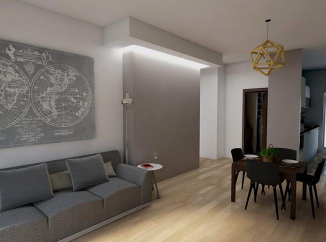 Architetto online ristrutturazione casa a roma ridistribuzione spazi interni - Ristrutturazione casa roma ...