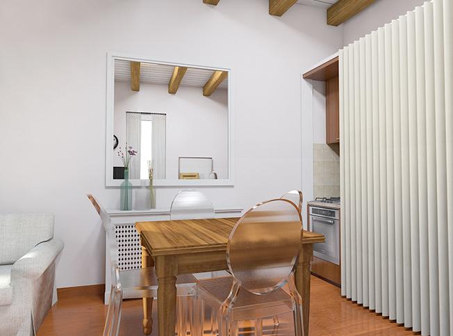 Architetto online | Progetto soggiorno shabby chic | Arredi di interni