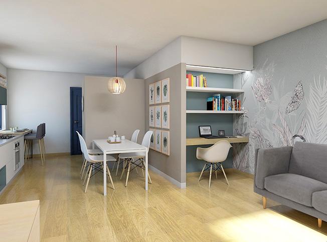 Architetto online progetto zona living online arredi for Zona living moderna